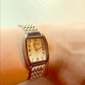 Anne Klein watch silver and gold color